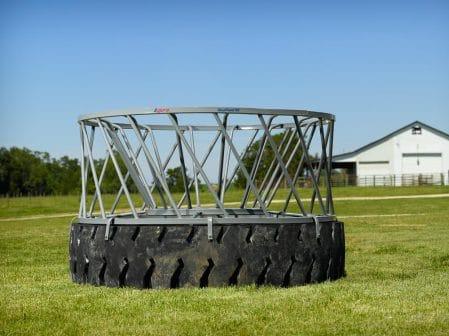 round bale tire feeder