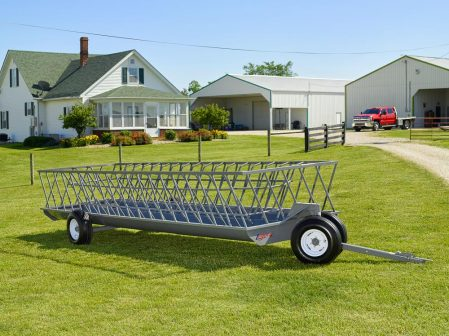 double trough feeder wagon built by legacy manufacturing
