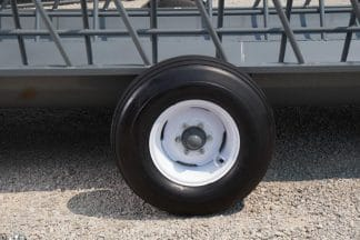 quality new tires on feeder wagon