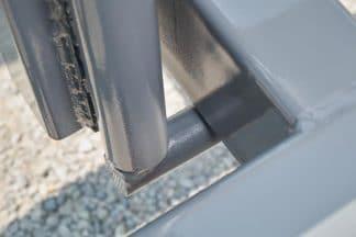 heavy duty latch system on inline bale trailer