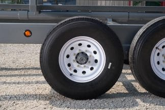 ST235/85R16 14-Ply Tires on the Legacy inline bale trailer