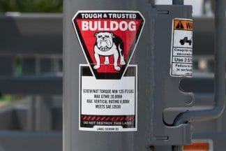 strong bull dog coupler on trailer