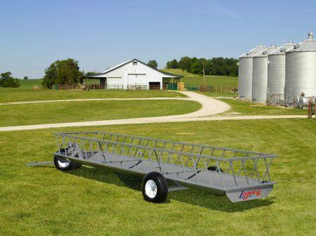 single trough feeder wagon built by legacy mfg