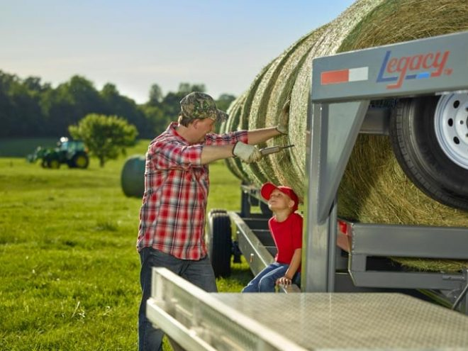Hay trailer by Legacy MFG